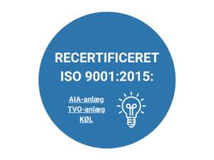 Recertificeret af iso 9001 2015